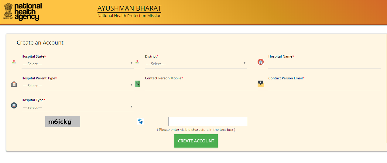Hospital Login Of PMJAY
